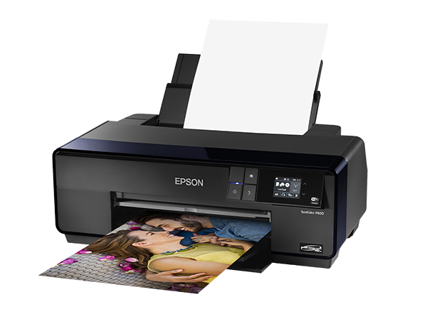 Epson SureColor P600 Inkjet Printer loaded with paper