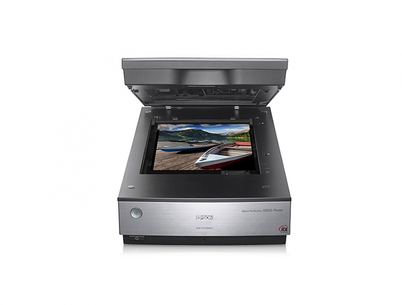 "Epson Perfection V800 Photo Flatbed Scanner with 8""x10"" Built-in Transparency Film Unit"