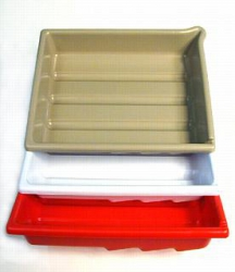 Arista Set of 3 Developing Trays - Accommodates 8x10 inch print size - (White/Red/Buff)