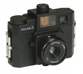 Holga 120 CFN Plastic Medium Format Camera with Built-in color flash