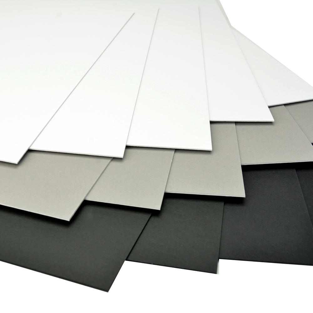 Arista Mat Board 17x22 4 Ply Black White 10 Pack