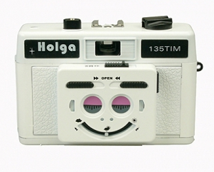 Holga 135 TIM 35mm 1/2 Frame Plastic Twin/Multi-Image Camera only - White