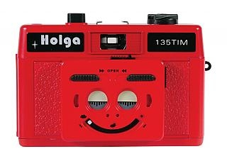 Holga TIM 35mm Twin Image Maker Half Frame Camera Red