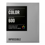 Impossible Instant Color Film with Silver Frames for Polaroid 600 Type Cameras - 3.5x4.2