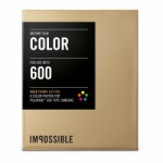 Impossible Instant Color Film with Gold Frames for Polaroid 600 Type Cameras - 3.5x4.2