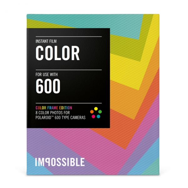 impossible instant color film with colored frames for poloaroid 600 type cameras 35 x 42