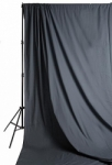 Savage Accent Solid Muslin Background 10 foot by 24 foot Gray