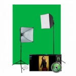 Westcott Illusions uLite 401N Green Screen Photo Lighting Kit