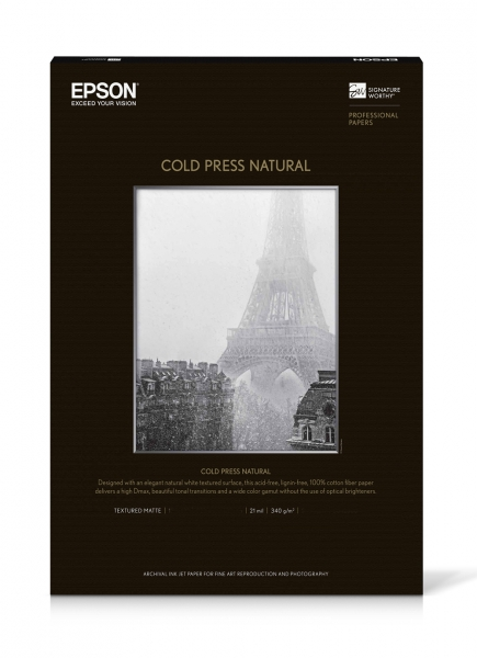 Epson Cold Press Natural Inkjet Paper 340gsm 17x22 20