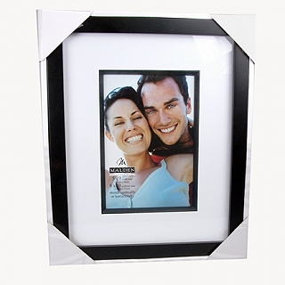 malden matted black 8x10 frame with 5x7 inset