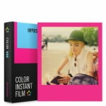Impossible Instant Color Film for 600 - Hot Pink Frame - 8 Exposures