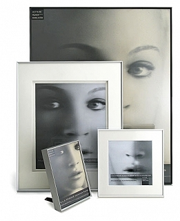 framatic fineline 5x7 white frame with single 5x7 mat