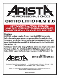 Arista Ortho Litho Film 2.0 3.9x4.9/50 Sheets - For 4x5 Film Holders