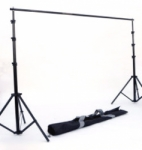 JTL B-1010 10 ft. Background Stand with 3 Section Bars, Stands and Carry Bag