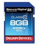 Delkin Devices 8GB Secure Digital (SDHC) Class 10 - Memory Card