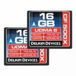 Delkin Devices 16GB Compact Flash (CF) 500X UDMA Memory Card - 2 Pack