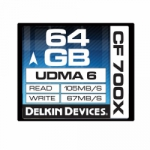 Delkin Devices 64GB Compact Flash (CF) 700X UDMA 6 - Memory Card