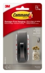3M Command™ Medium Modern Reflections Oil Rubbed Bronze Metal Hook