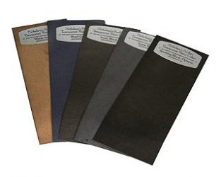 Peerless Black & White (Dry) Spotting Dye Sheet - Set of 5 colors