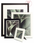Framatic Modern 5x5 Frame Black with 3x3 Mat