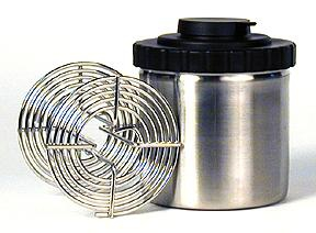 Arista Stainless Steel 16 oz. Film Developing Tank (PVC top) and one Arista 120 size reel