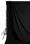 Savage Accent Solid Muslin Background 10 foot by 24 foot Black
