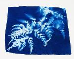 Blue Sunprints Cyanotype Sensitized 100% White Cotton 6x6 inch Fabric Squares - 25 pack