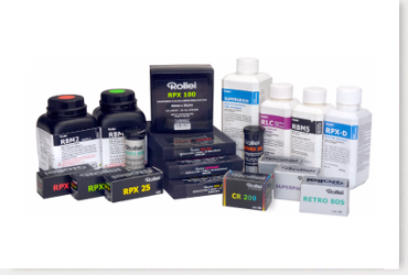 New Lower Prices!                              Rollei Films and Chemicals