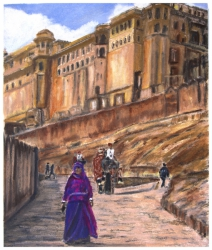 The Amber Palace in Jaipur, India