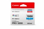 Canon PFI-1000C Cyan Ink Cartridge - 80ml