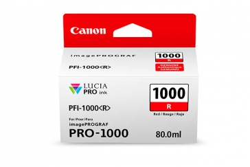 Canon PFI-1000R Red Ink Cartridge - 80ml