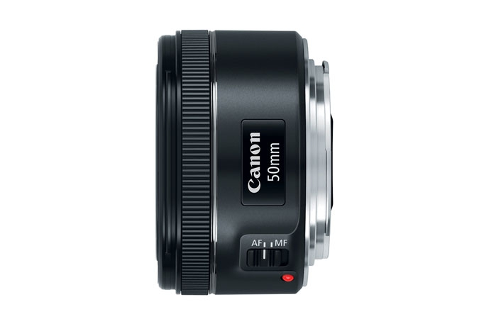 Canon EF 50mm f/1.8 STM Lens - side view