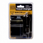 Premium Tech Travel Charger PT-63 (for Nikon EN-EL14 Battery)