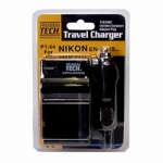 Premium Tech Travel Charger PT-64 (for Nikon EN-EL15 Battery)
