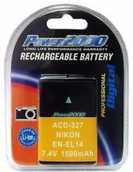 Power 2000 EN-EL14A Rechargeable Battery for Nikon