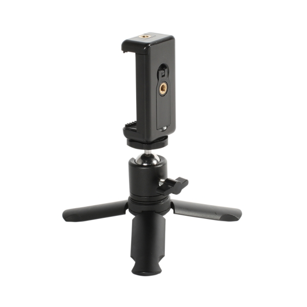 Phoneography Mini Tripod/Grip with Metal Ball Head and Phone Mount