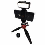 Dotline Gizmo Mini Tripod LED Traveler Kit for Smartphones and Digital Cameras