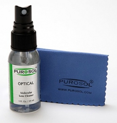 Purosol Optical Cleaner with Cleaning Cloth - 1 oz.