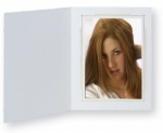 Whitehouse Photo Folder 8x10 Portrait White/Gold - 10 Pack