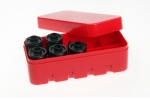 35mm Film Hard Case Red - Holds 10 Rolls of Film