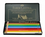 Faber Castell Polychromos Color Pencil Set - 12 Pencils in Metal Tin