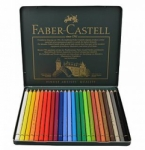 Faber Castell Polychromos Color Pencil Set - 24 Pencils in Metal Tin