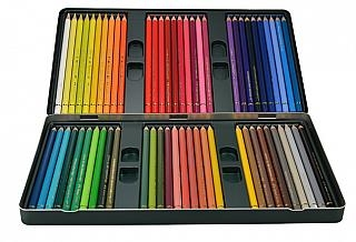 Faber Castell Polychromos Color Pencil Set - 60 Pencils in Metal Tin