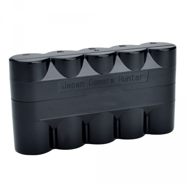 120 Film Hard Case Black - Holds 5 Rolls of 120 Size Film