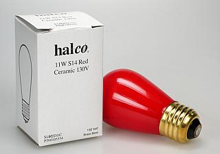 Halco 11 Watt S14 Red Safelight Bulb