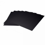 Arista Mat Board 8.5x11 4-ply Black Both Sides with Black Core - 10 pack