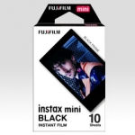 Fuji Instax Mini Black Instant Color Film - 10 Sheets