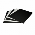 Arista Mat Board 8.5x11 4-ply Black/White - 10 pack