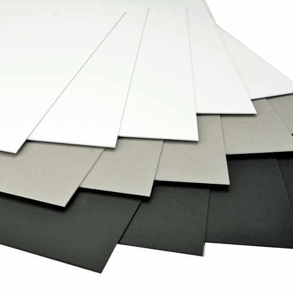 Arista Mat Board 13x19 4-ply Black/White  - 10 pack
