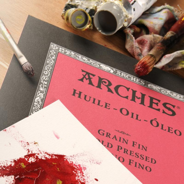 Arches Oil Paper Pad 140GSM Paper for Handcoloring - 9x12/12 sheet pad